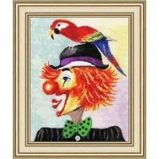 """Набор для вышивки Золотое руно ВК-030 """"Клоун с попугаем"""""""