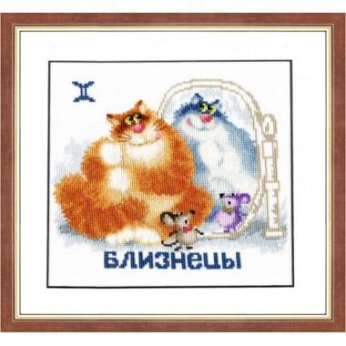"""Набор для вышивки крестом Золотое Руно ВЛ-003 """"Знак зодиака. Близнецы"""""""