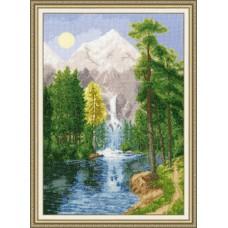 """Набор для вышивки Золотое руно ВМ-027 """"Водопад в горах"""""""