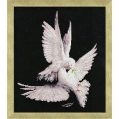 """Набор для вышивки крестом Золотое Руно З-018 """"Моя голубка"""""""