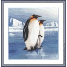 """Набор для вышивки Золотое руно З-025 """"Пингвины"""""""