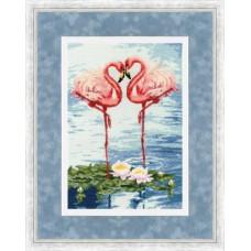 Набор для вышивки Золотое Руно З-051 Свидание фламинго