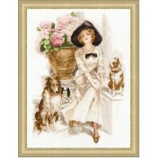 Набор для вышивки Золотое руно ЧМ-056 Юная леди