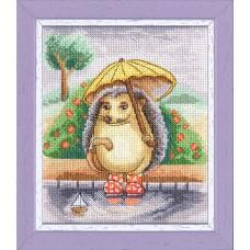 Набор для вышивки Золотое руно Д-060 Ёжик с зонтиком