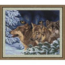 """Набор для вышивки Золотое руно ДЖ-018 """"Волчий взгляд"""""""