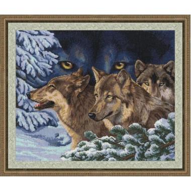 """Набор для вышивки крестом Золотое Руно ДЖ-018 """"Волчий взгляд"""""""