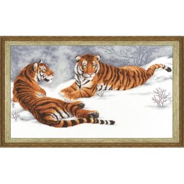 """Набор для вышивки Золотое руно ДЖ-020 """"Амурские тигры"""""""