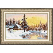 """Набор для вышивки Золотое руно ЛП-047 """"Снежный рассвет"""""""