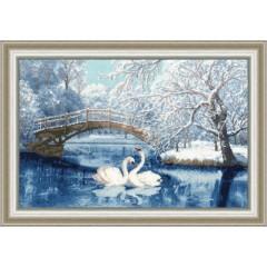"""Набор для вышивки Золотое руно ЛП-036 """"Белые лебеди"""""""