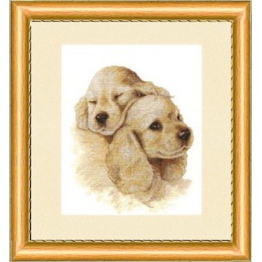 """Набор для вышивки крестом Золотое Руно НЛ-016 """"Милая парочка"""""""