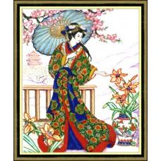 """Набор для вышивки Золотое руно РТ-022 """"Японка"""""""