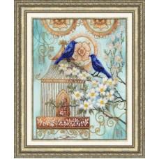 """Набор для вышивки Золотое руно РТ-027 """"Синие птицы счастья"""""""