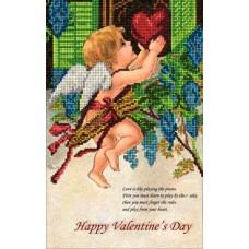 """Набор для вышивания бисером Краса і Творчість 10115 """"День Св.Валентина 1"""""""