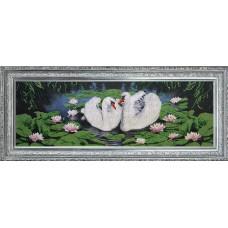 "Набор для вышивания бисером Краса і Творчість 10412 ""Лебединое озеро"""