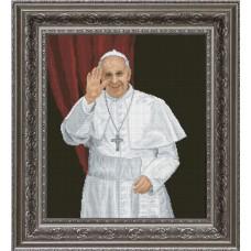 """Набор для вышивания крестиком Краса і Творчість 10413 """"Папа Римский"""""""