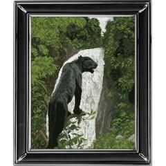 "Набор для вышивания крестиком Краса і Творчість 10513 ""Черная пантера 1"""