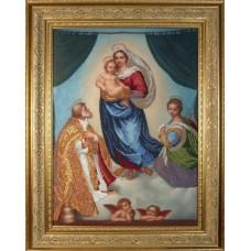 """Набор для вышивания бисером Краса і Творчість 10610 """"Сикстинская Мадонна"""""""