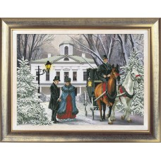 "Набор для вышивания крестиком Краса і Творчість 20112 ""Времена года. Зима"""