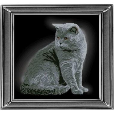 """Набор для вышивания крестиком Краса і Творчість 21111 """"Британская короткошерстная кошка"""""""