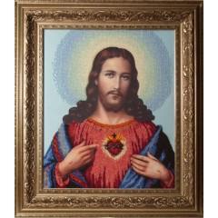 """Набір для вишивання бісером Краса і Творчість 30409 """"Ісус"""""""