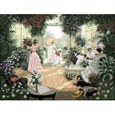 """Набор для вышивания крестиком Краса і Творчість 30609 """"Среди зеленой тишины"""""""