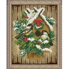 """Набор для вышивания бисером Краса і Творчість 30915 """"Рождественские истории 14"""""""