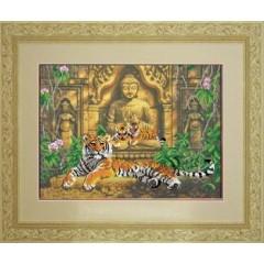 """Набор для вышивания крестиком Краса і Творчість 31110 """"Древний храм"""""""