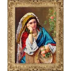 "Набор для вышивания бисером Краса і Творчість 40415 ""Девушка в платке"""