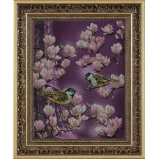 """Набор для вышивания бисером Краса і Творчість 41013 """"Залит лучами розового цвета"""""""