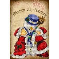 """Набор для вышивания бисером Краса і Творчість 41114 """"Рождественские истории 4"""""""