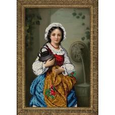 """Набор для вышивания бисером Краса і Творчість 50415 """"Девушка с кувшином"""""""