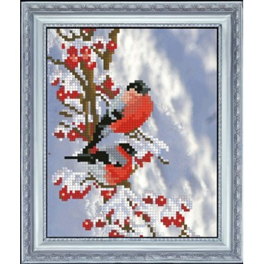 "Набор для вышивания крестиком Краса і Творчість 61015 ""Вестники зимы 1"""