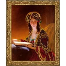 "Набор для вышивания бисером Краса і Творчість 70815 ""Девушка с книгой"""