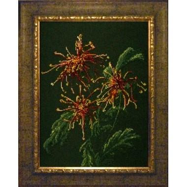 "Набор для вышивания бисером Краса і Творчість 71209 ""Хризантемы в саду"""