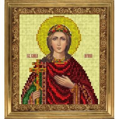 """Набор для вышивания бисером Краса і Творчість 80715 """"Св. Ирина"""""""