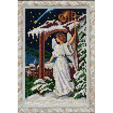 "Набор для вышивания бисером Краса і Творчість 80915 ""Рождественский ангел"""