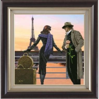 """Набор для вышивания крестиком Краса і Творчість 91011 """"Аромат вечернего Парижа"""""""