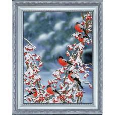 "Набор для вышивания крестиком Краса і Творчість 91015 ""Вестники зимы"""