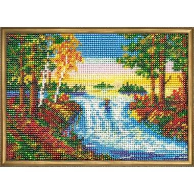 """Набор для вышивки бисером Кроше В-042 """"Лесной ручей"""""""