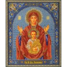 """Набор для вышивки бисером Кроше В-157 """"Богородица Знамение"""""""