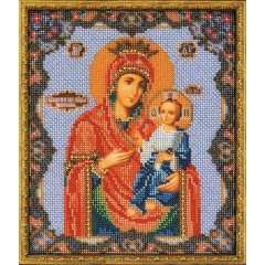 """Набор для вышивки бисером Кроше В-162 """"Иверская Богородица"""""""