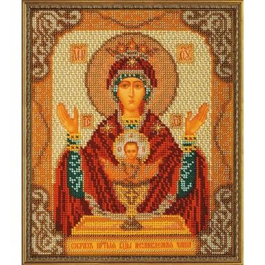 """Набор для вышивки бисером Кроше В-165 """"Богородица Неупиваемая Чаша"""""""