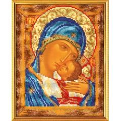 """Набор для вышивки бисером Кроше В-181 """"Богородица Умиление 2"""""""