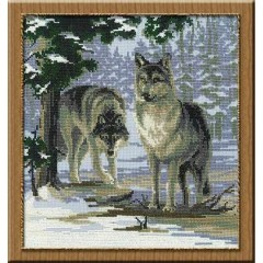 """Набор для вышивки крестом Риолис 271 """"Волки"""""""