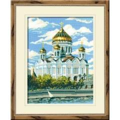 """Набор для вышивки крестом Риолис 303 """"Храм Христа Спасителя"""""""