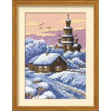 """Набор для вышивки крестом Риолис 371 """"Морозный вечер"""""""