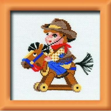 """Набор для вышивки Риолис 597 """"Мальчик на лошадке"""""""