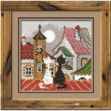 """Набор для вышивки крестом Риолис 611 """"Город и кошки. Весна"""""""