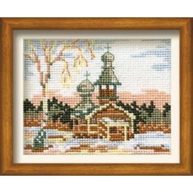 """Набор для вышивки Риолис 628 """"Зима в деревне"""""""