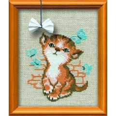 """Набор для вышивки Риолис 671 """"Котёнок с бантиком"""""""